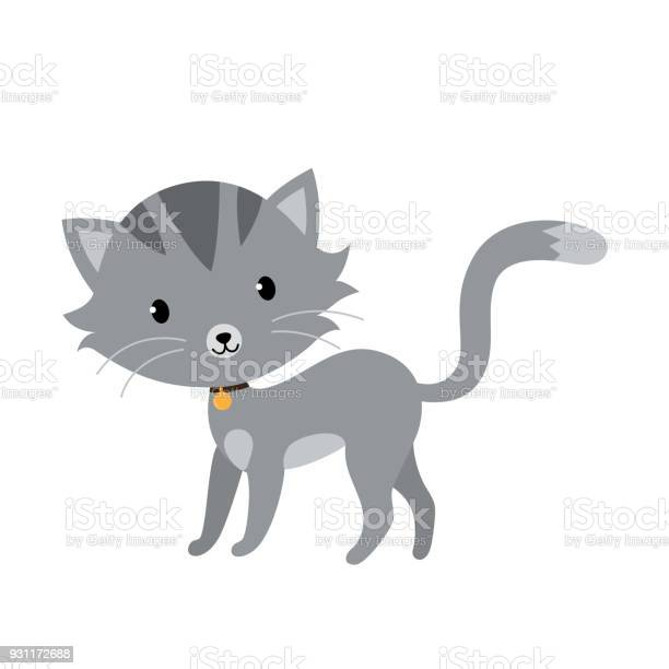Gray cat in flat style isolated on white background vector id931172688?b=1&k=6&m=931172688&s=612x612&h=m8fx8iujxfylczmia2bo2t19jqvno8nmrvndnxwku0e=