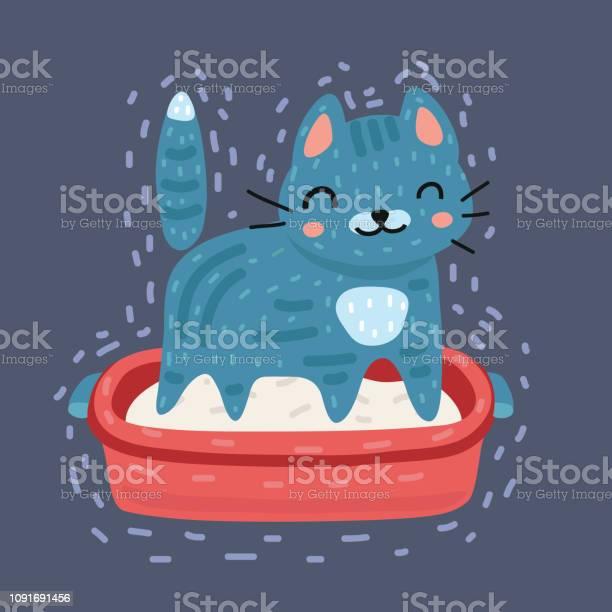 Gray cat using cat toilet litter box vector id1091691456?b=1&k=6&m=1091691456&s=612x612&h=h6onegho fb8qokahxfu73 o9lrfzpkvlnbgf7q0cgo=