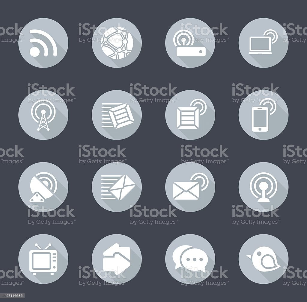 Gray Communication Icons royalty-free stock vector art