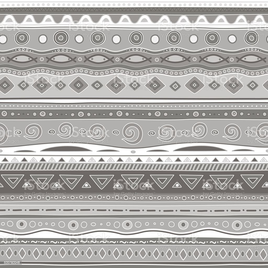 Gray curls. Seamless pattern. vector art illustration