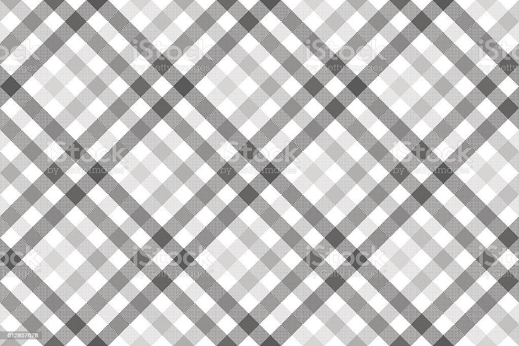Gray diagonal check seamless pattern vector art illustration