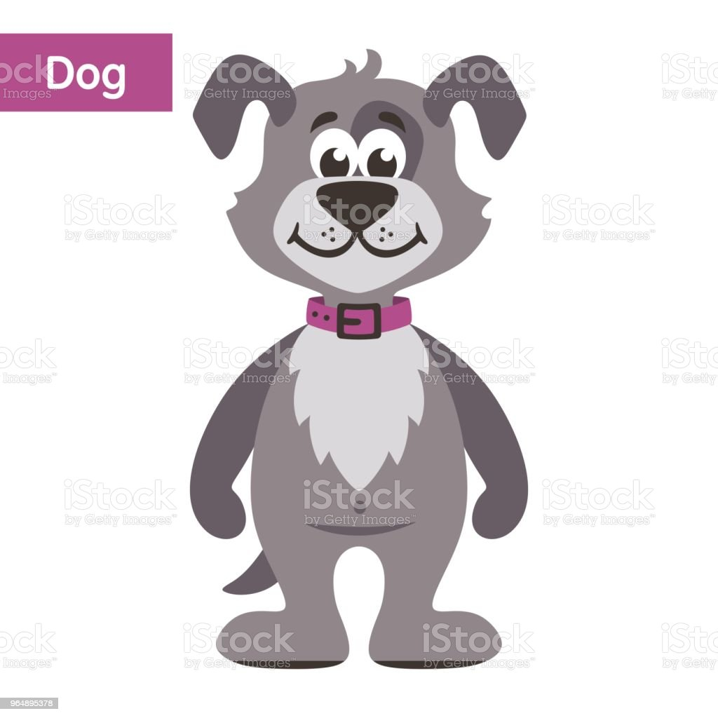 Gray dog. royalty-free gray dog stock vector art & more images of animal