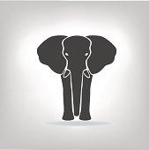 gray emblem of an elephant