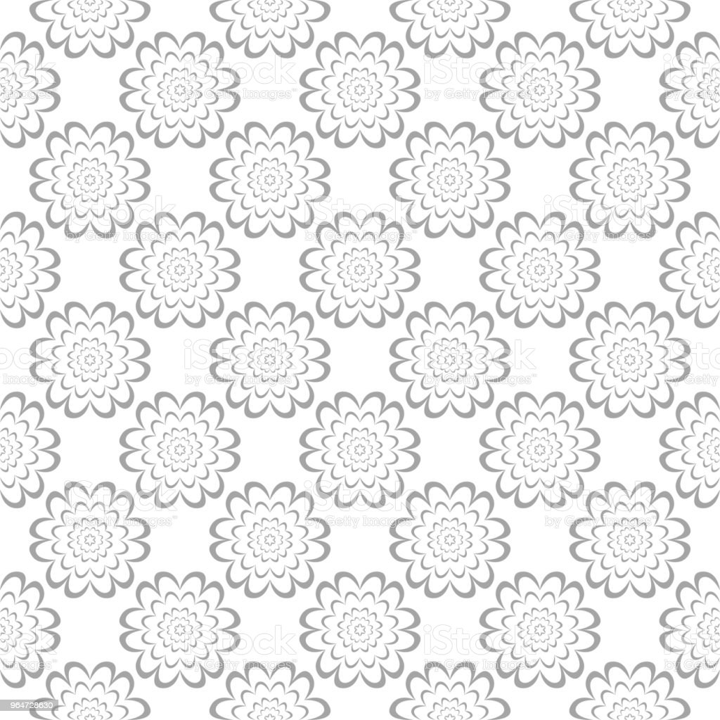 Gray floral seamless ornament on white background royalty-free gray floral seamless ornament on white background stock vector art & more images of abstract