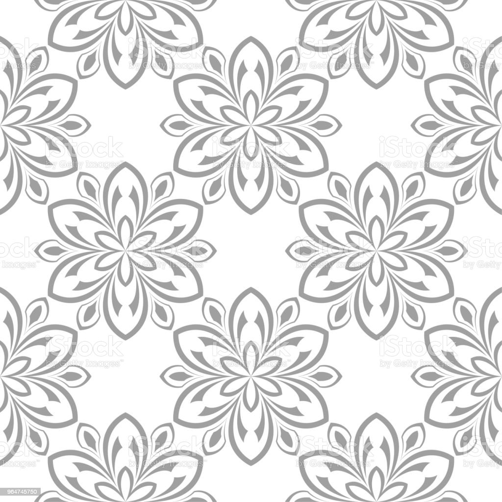 Gray floral seamless pattern on white background royalty-free gray floral seamless pattern on white background stock vector art & more images of abstract