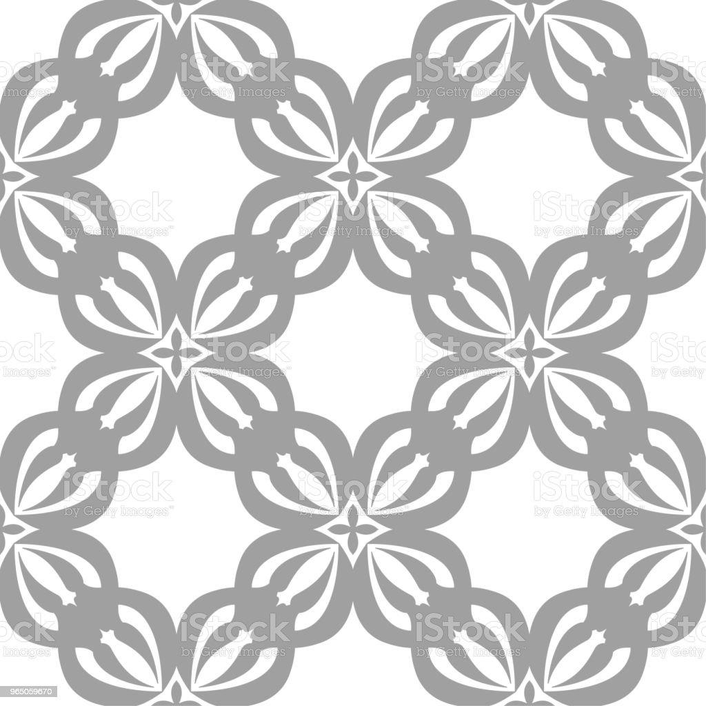 Gray floral seamless pattern on white background gray floral seamless pattern on white background - stockowe grafiki wektorowe i więcej obrazów abstrakcja royalty-free
