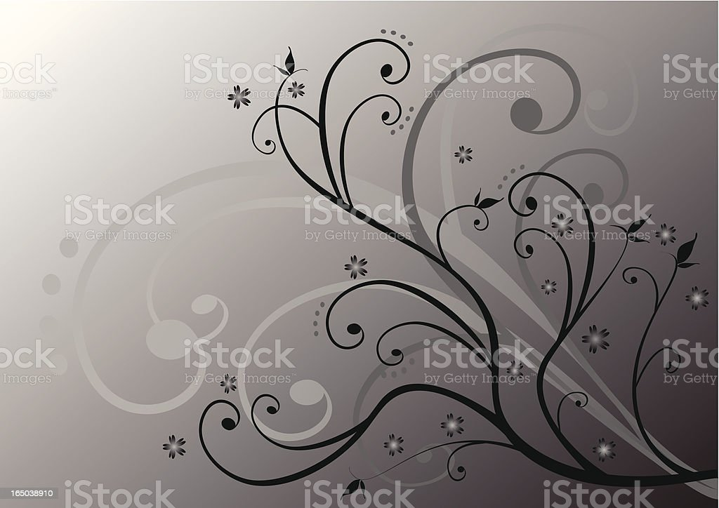 Gray foliage royalty-free stock vector art