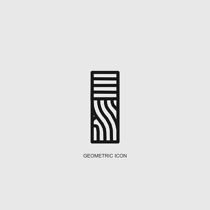 gray geometric line structure pattern