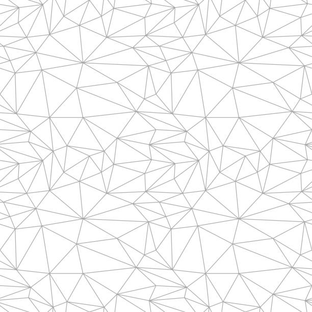 Bекторная иллюстрация Gray geometric ornament on white background. Seamless pattern