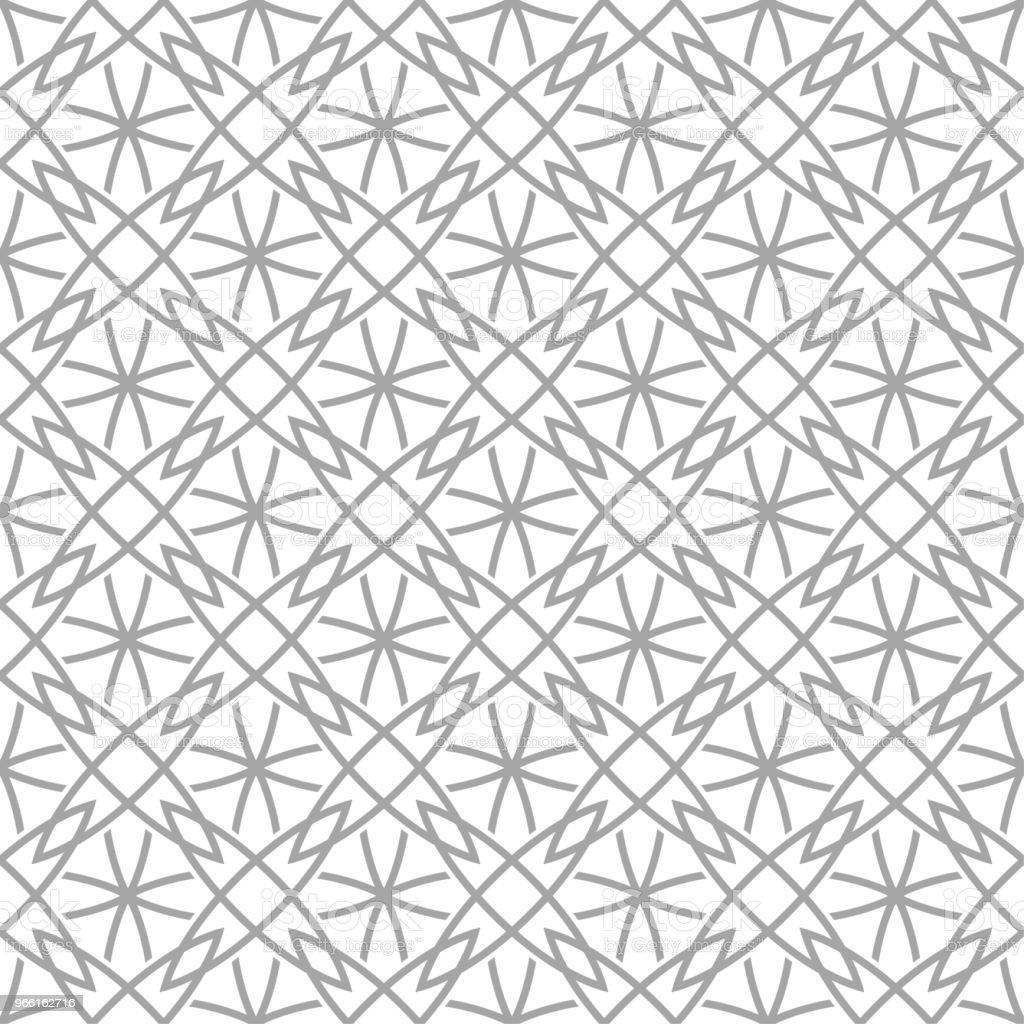Grijze geometrische ornament op witte achtergrond. Naadloze patroon - Royalty-free Abstract vectorkunst