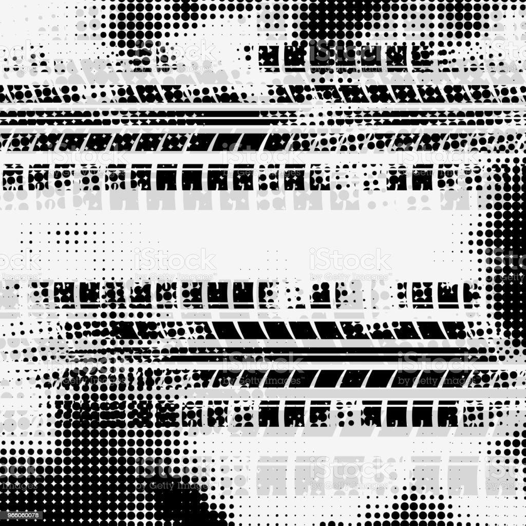 Grå halvton däck spår bakgrund - Royaltyfri Abstrakt vektorgrafik