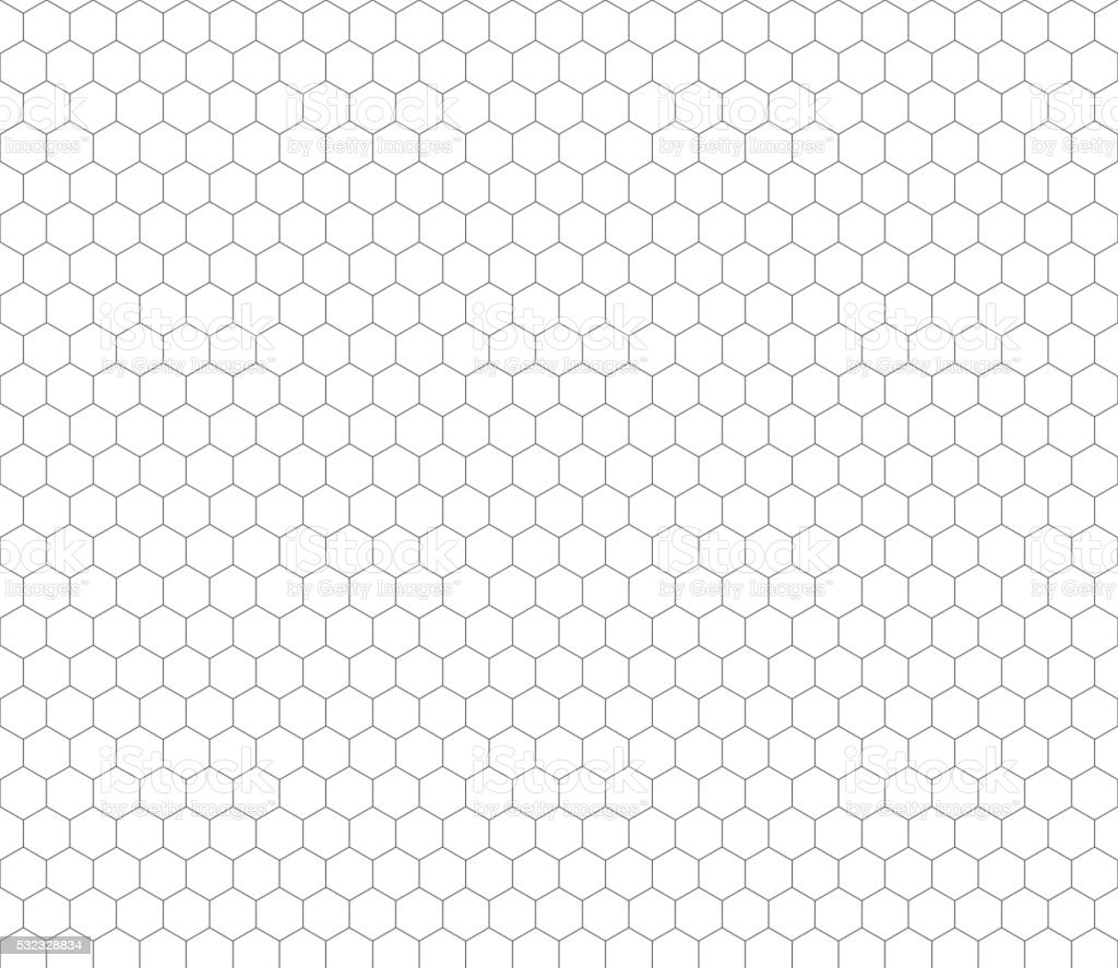 Gray hexagon grid seamless pattern vector art illustration
