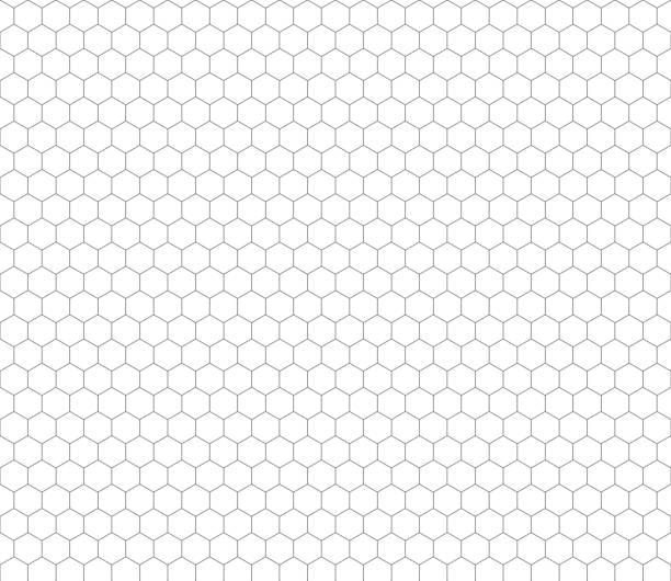 グレイの六角形グリッド継ぎ目のないパターン - タイルパターン点のイラスト素材/クリップアート素材/マンガ素材/アイコン素材