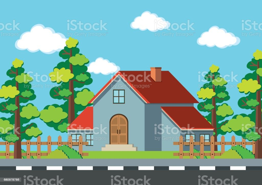 Gray house on the road royalty-free gray house on the road stock vector art & more images of architect
