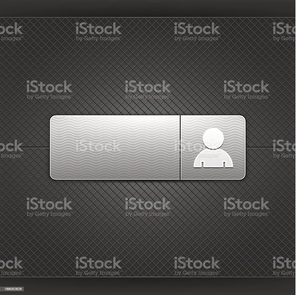Gray icon with user profile sign web internet button royalty-free stock vector art