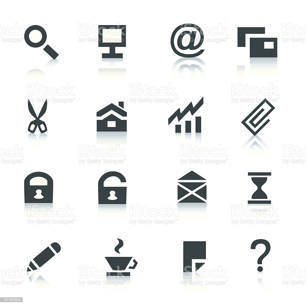 Gray internet icons, part 1 royalty-free stock vector art