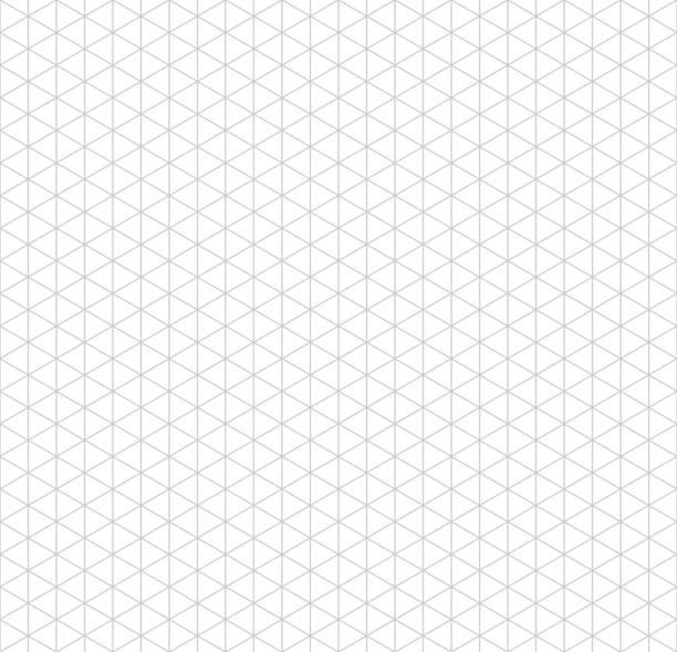 gray isometrische raster mit vertikalen richtlinien auf weiß - geometriestunde grafiken stock-grafiken, -clipart, -cartoons und -symbole
