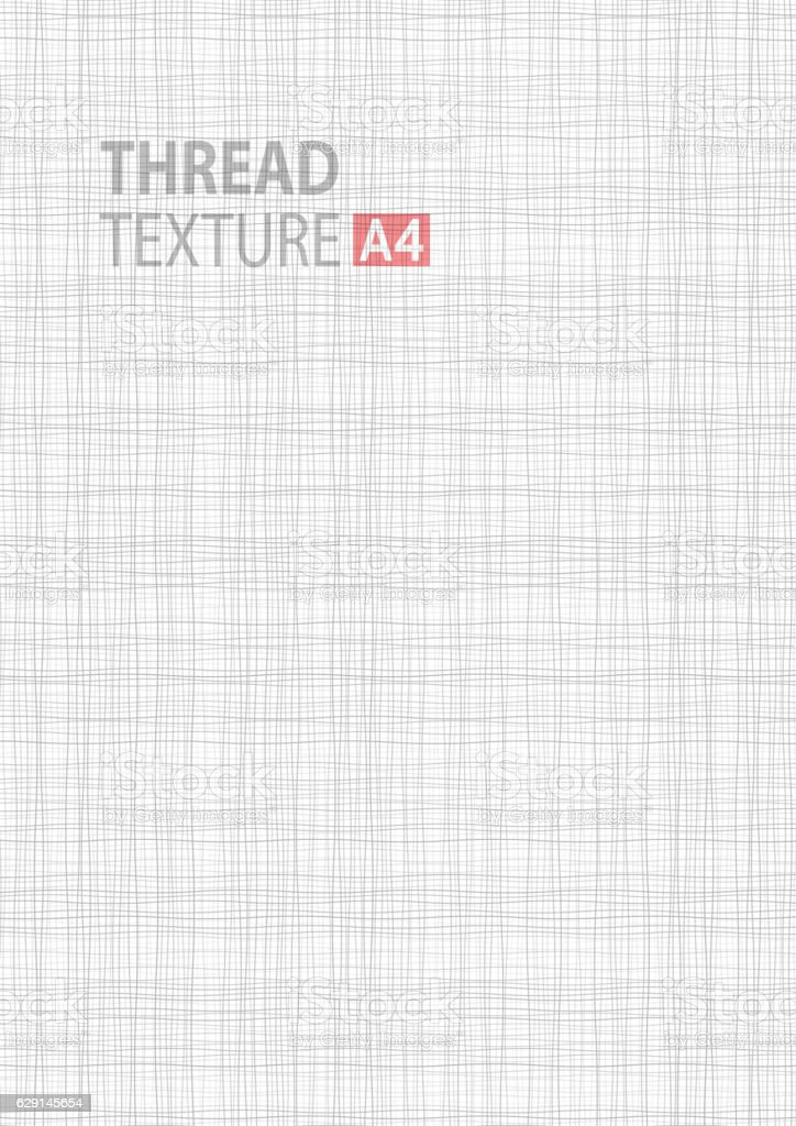 Gray line thread fabric pattern texture. A4 vector size background vector art illustration