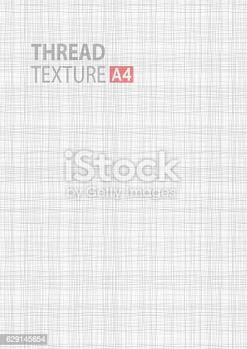 Gray Line Thread Fabric Pattern Texture A4 Vector Size