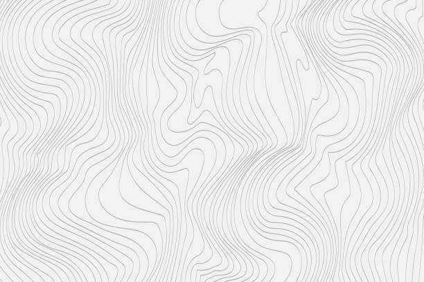 szare liniowe abstrakcyjne tło dla projektu vector - linia stock illustrations