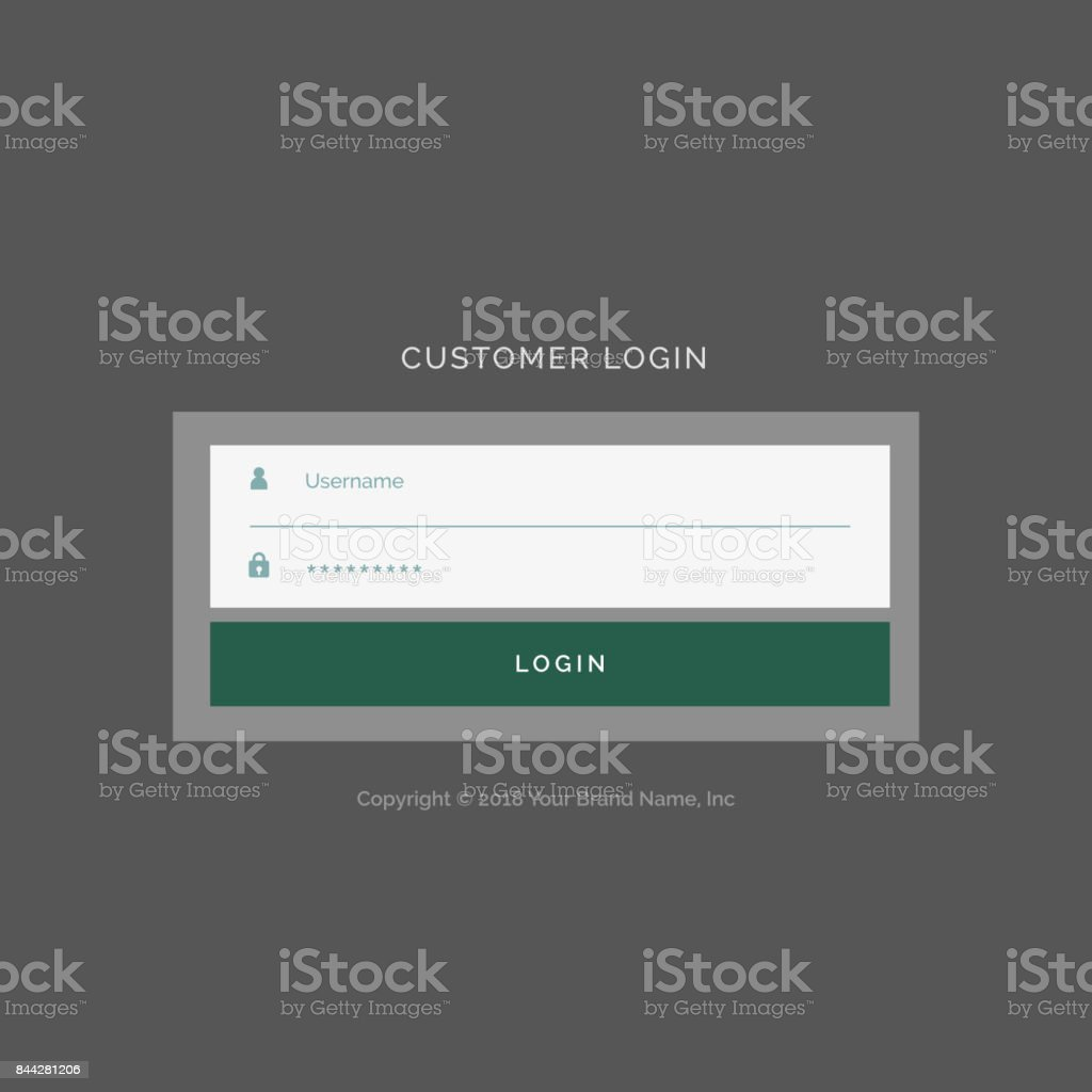 Gray Login Form Ui Design Template Stock Vector Art & More Images of ...