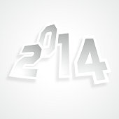 gray new year background,2014 number.(ai eps10 with transparency effect)