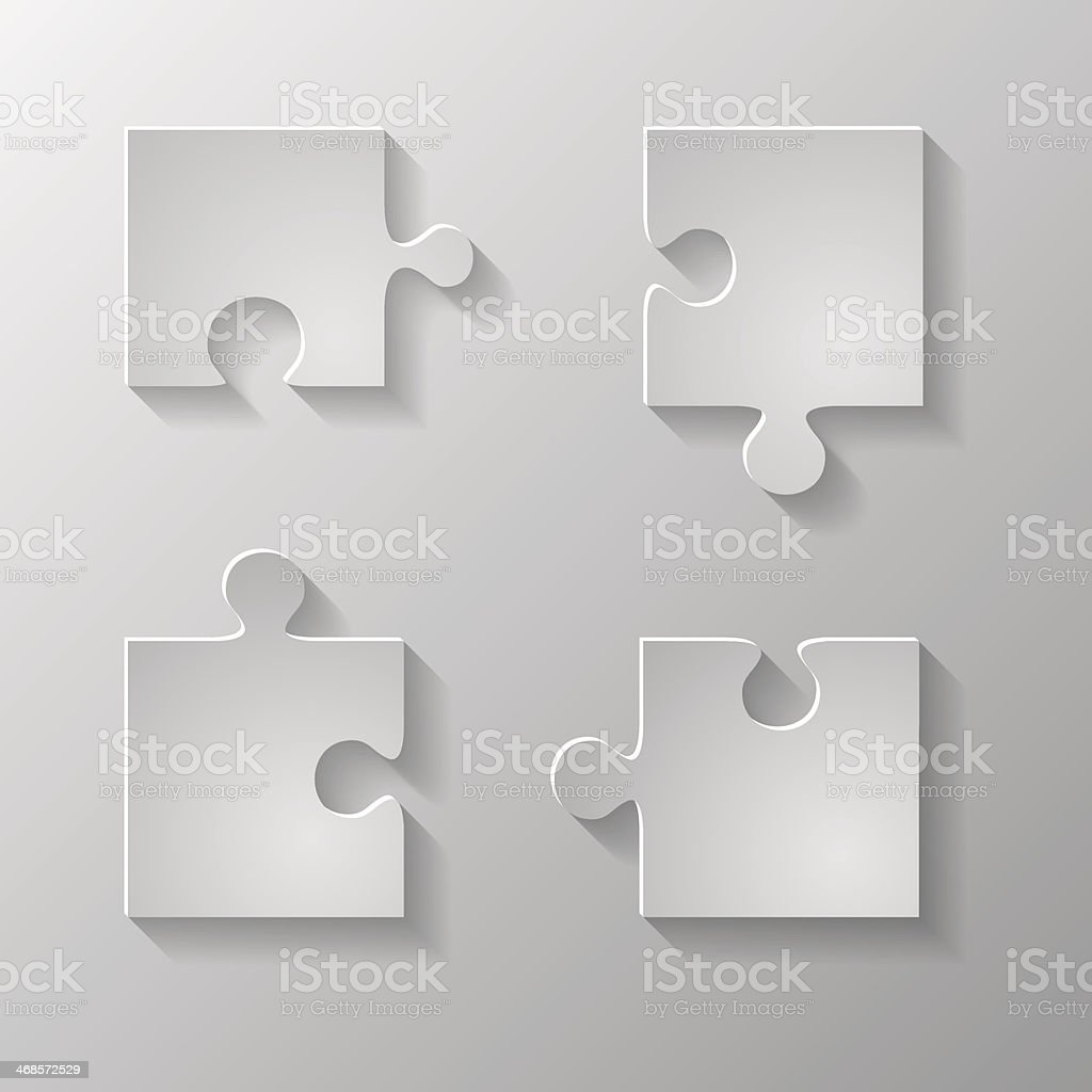 Gray piece the puzzle. Vector royalty-free stock vector art