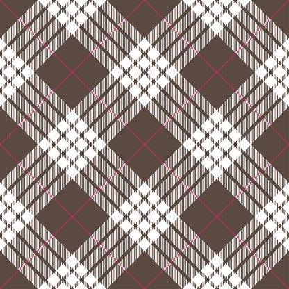 Gray Pink Argyle Tartan Plaid Textile Pattern