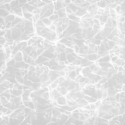 Gray Pool Water Surface with Sun Glare and Waves. Realistic Vector Background Illustration. Tropical background, tropical design element, summer concept.