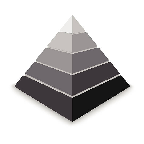 серый pyramid - пирамида stock illustrations