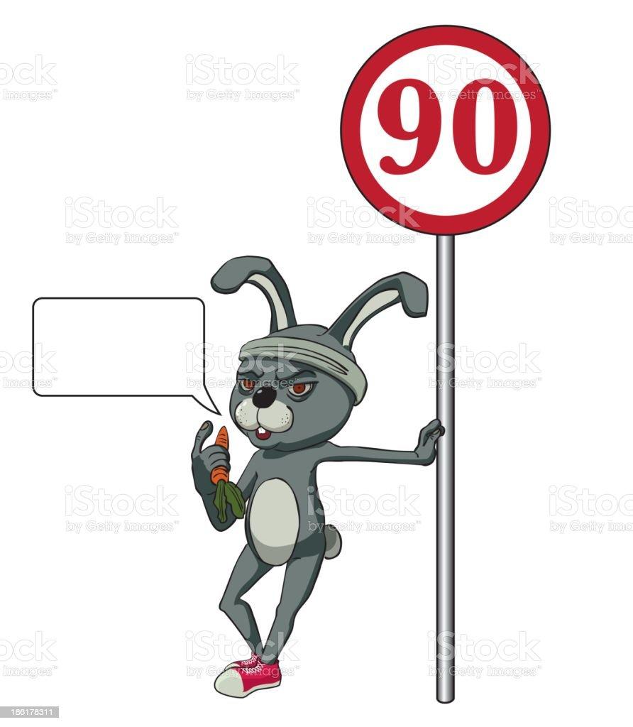 Gray rabbit royalty-free stock vector art