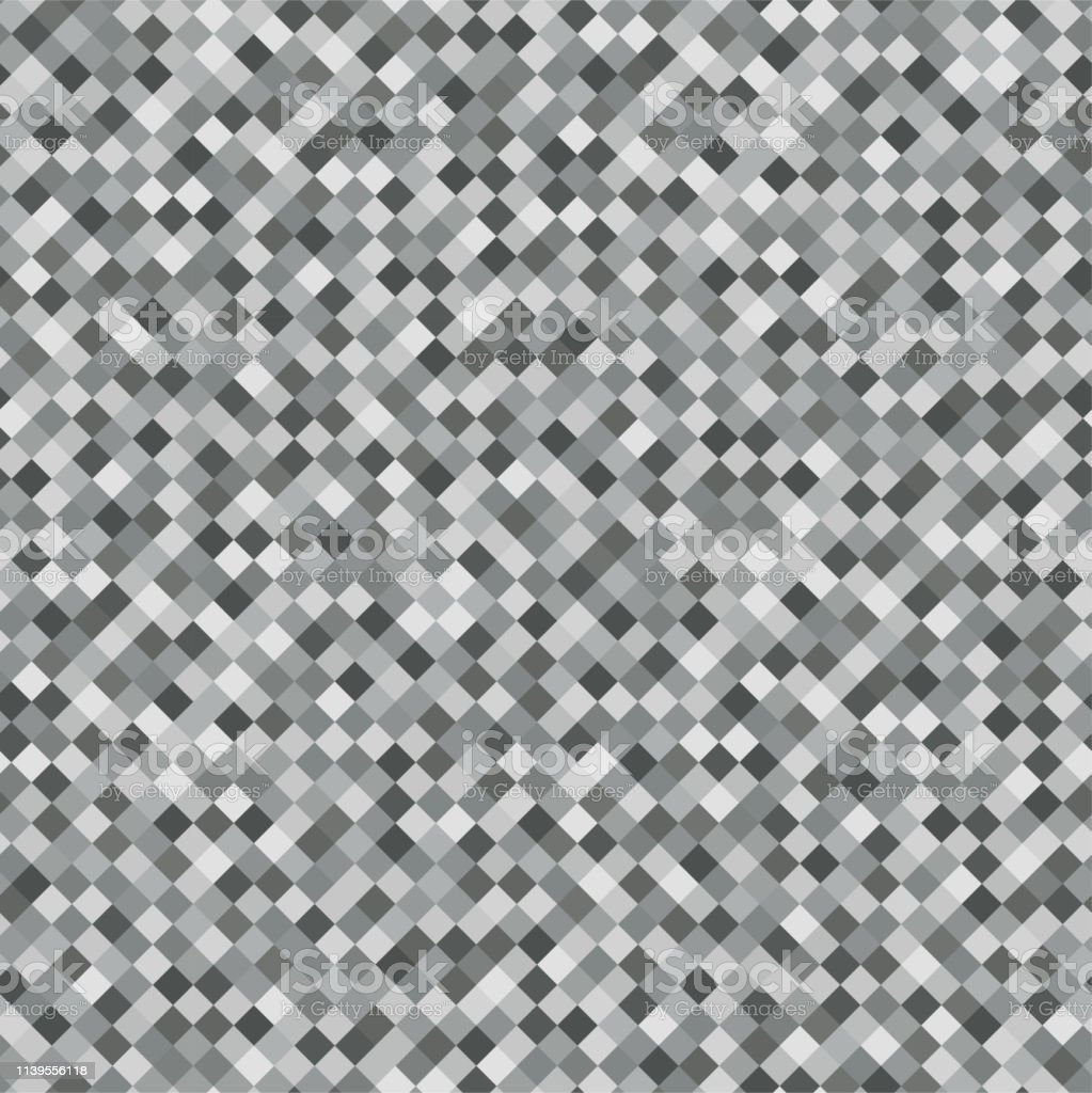 Gray Rhombus Mosaic Background Seamless Pattern Abstract Noise