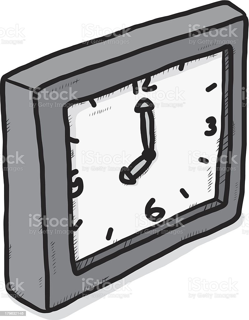 gray scale clock royalty-free stock vector art