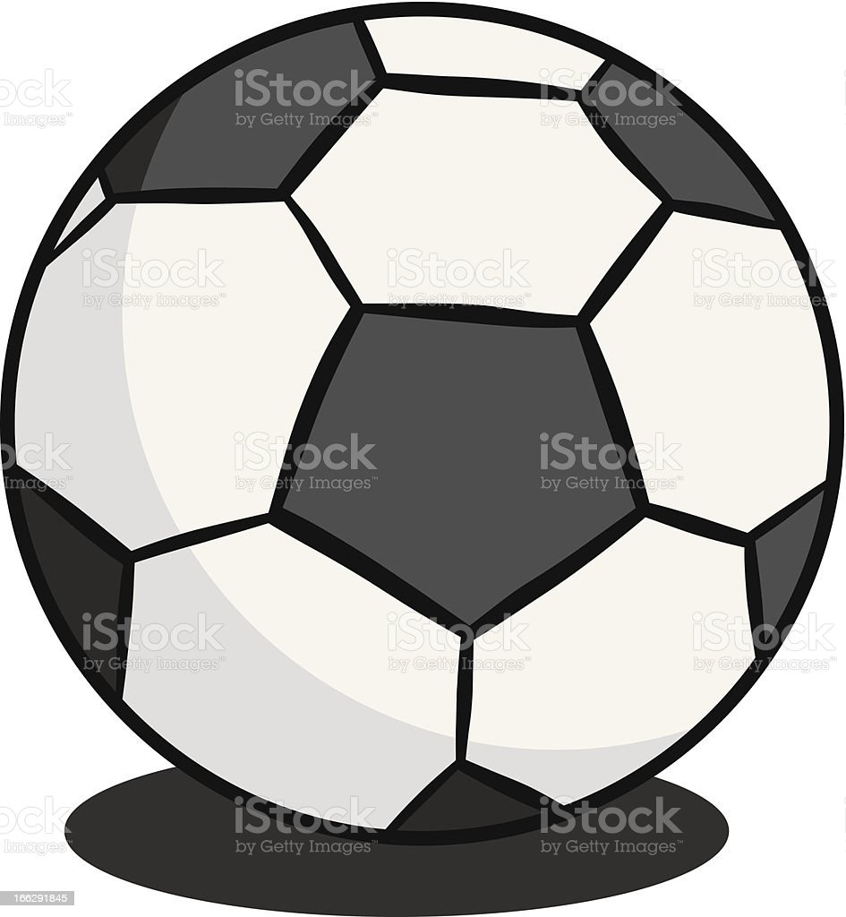 gray scale soccer football royalty-free stock vector art