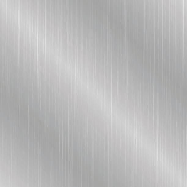 Gray seamless metallic texture. Gray seamless metallic texture. Brushed metal background. brushed metal stock illustrations