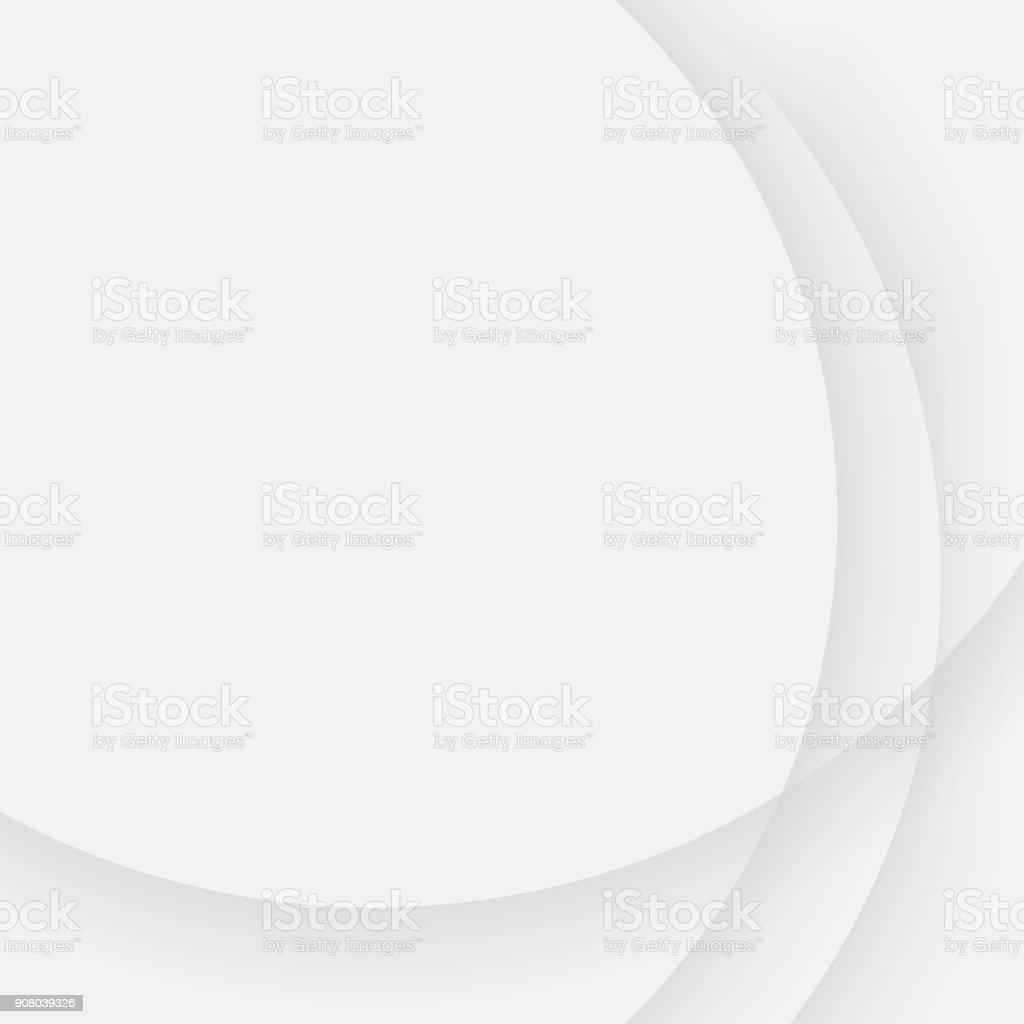 Gray simple background with curved line pattern vector art illustration