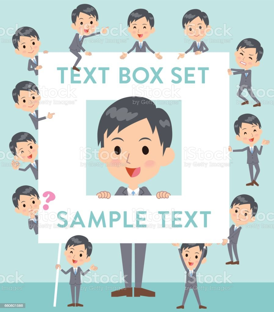 Gray Suit Businessman text box royalty-free gray suit businessman text box stock vector art & more images of adult