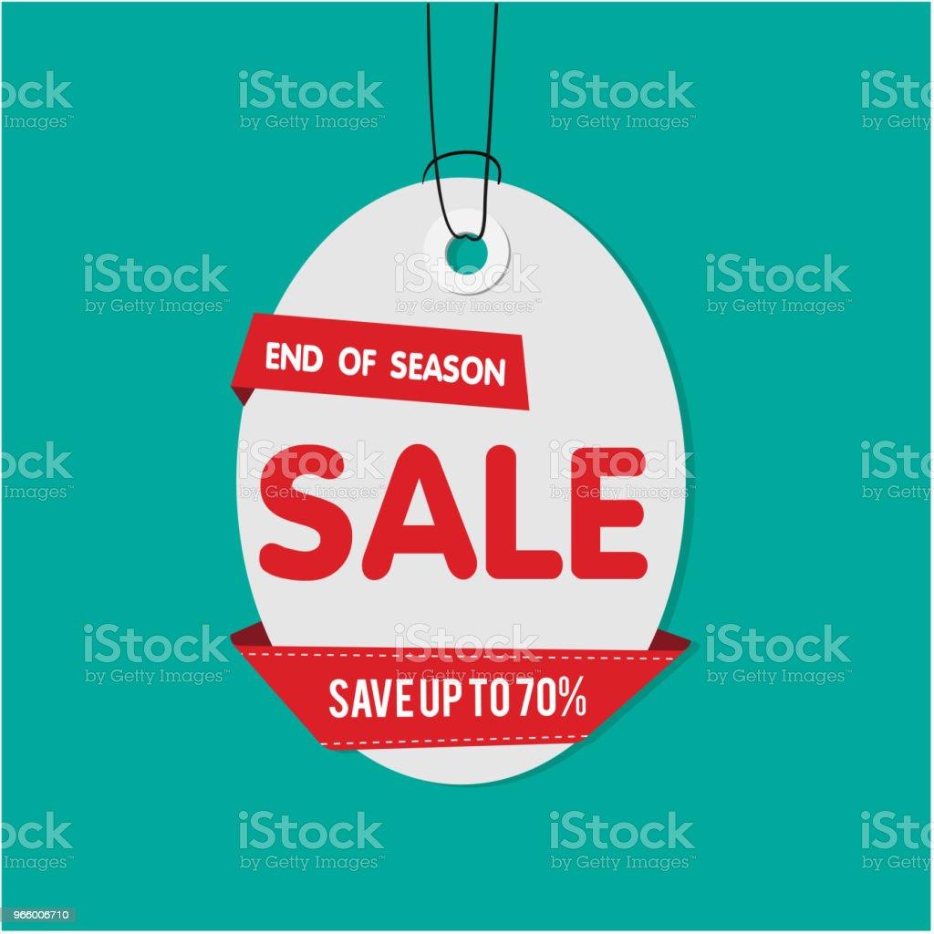 Grauer Tag Verkauf Ende der Season Sale sparen bis zu 70 %-Vektor-Bild - Lizenzfrei Abzeichen Vektorgrafik