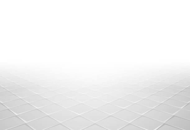 gray tile perspective background vector art illustration