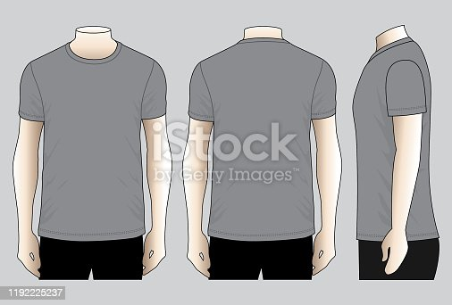 istock Gray T-Shirt Vector for Template 1192225237