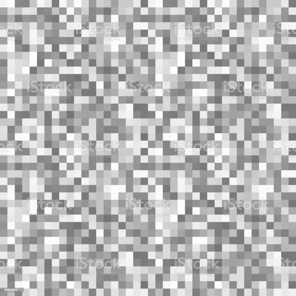 Grayscale Pixels Noise Mosaic Seamless Pattern Stock