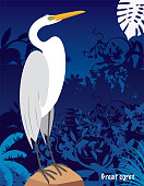 Vector Gread egret