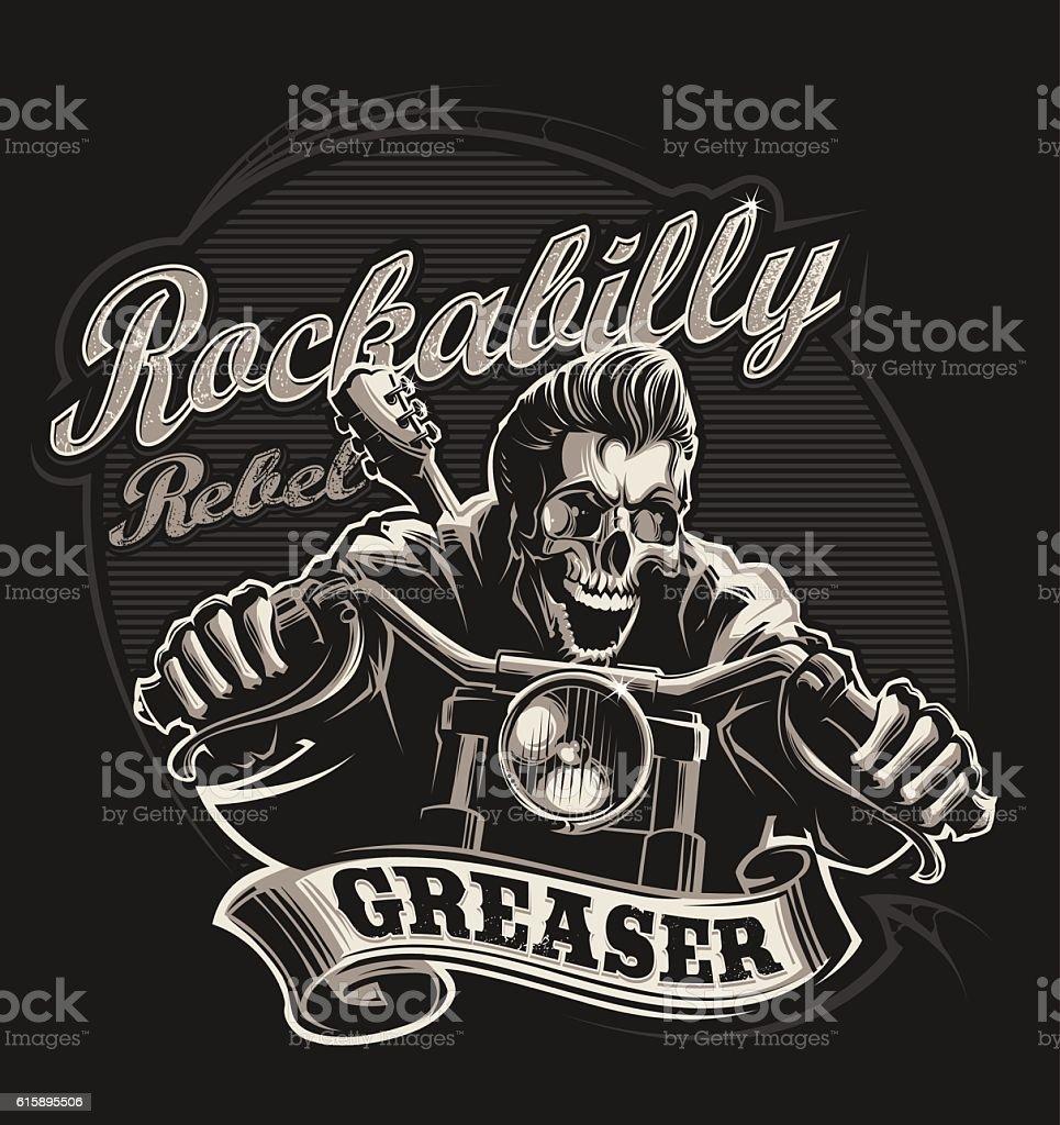 Greaser vector art illustration