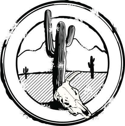 Great American Desert Stamp
