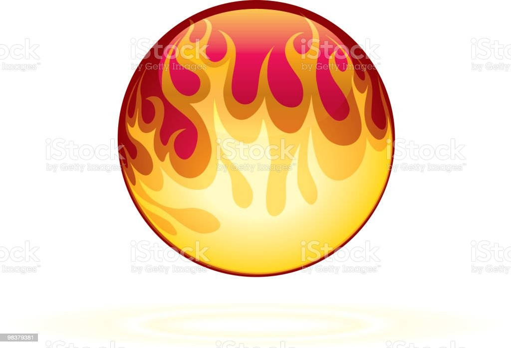Great Ball of Fire... royalty-free great ball of fire stock vector art & more images of burning