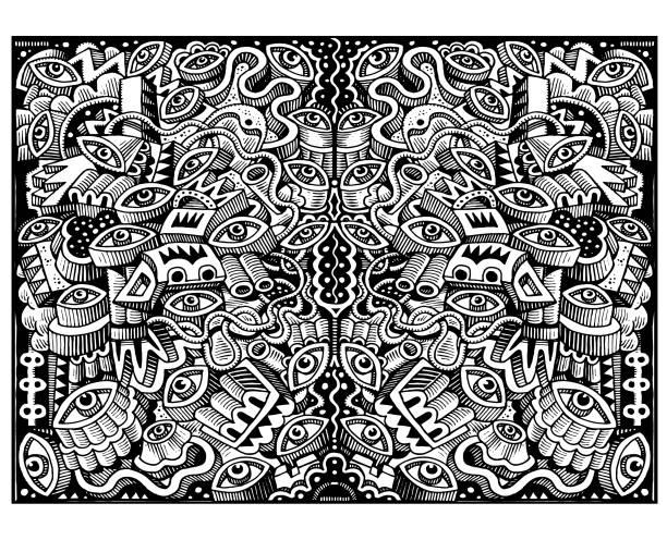 Great big doodle illustration vector art illustration