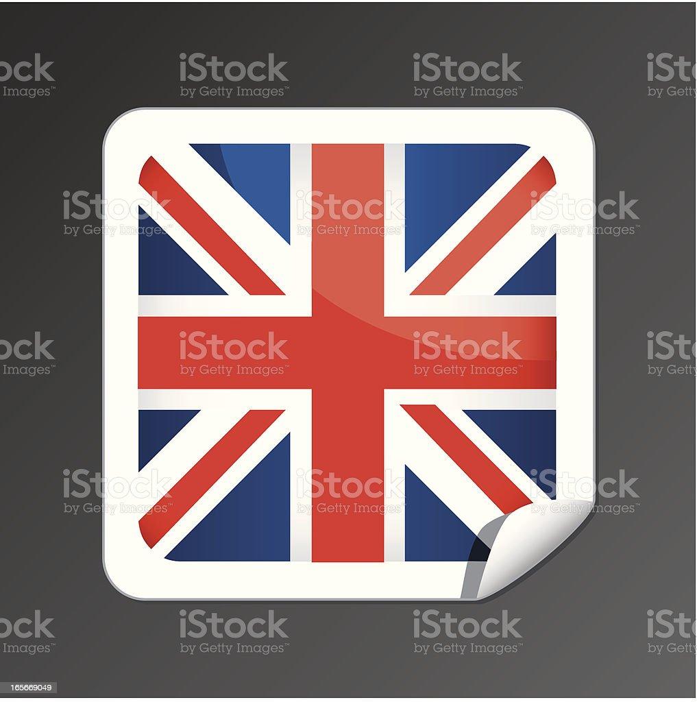 Great Britain flag button vector art illustration