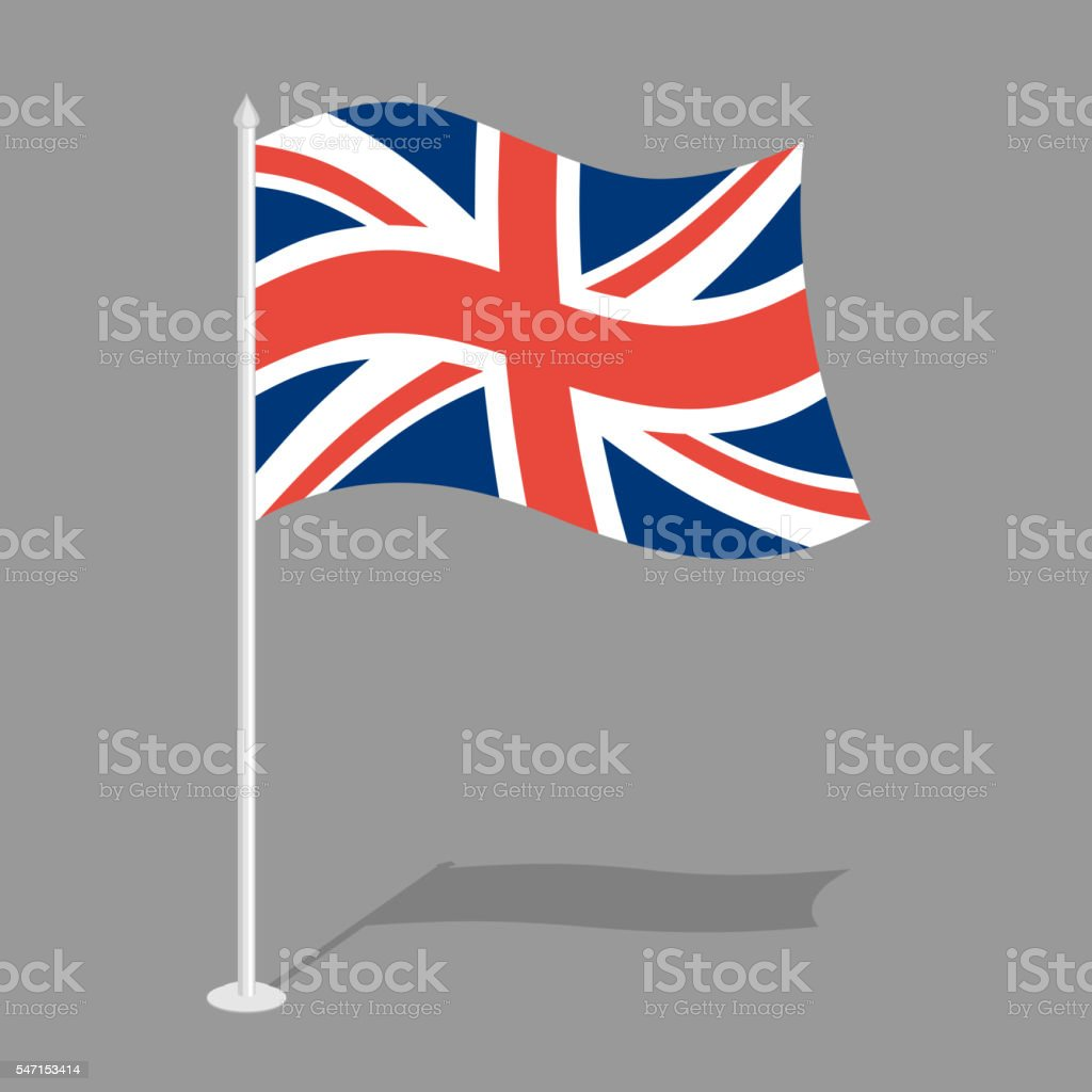 Great Britain Flag. Official national symbol of  United Kingdom vector art illustration