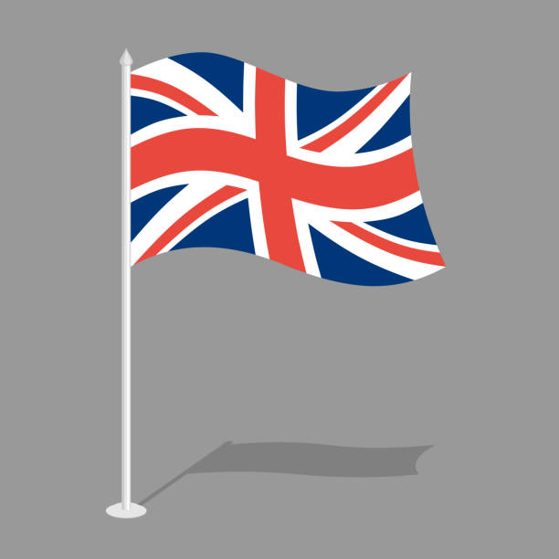 great britain flag. official national symbol of  united kingdom - union jack flag stock illustrations, clip art, cartoons, & icons