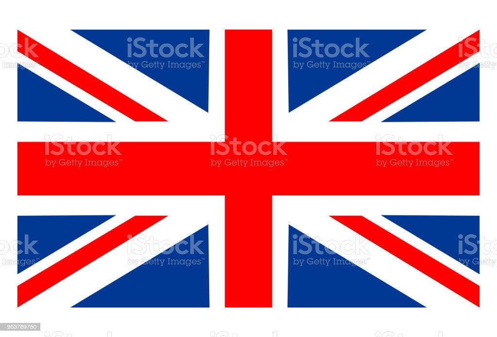 Bandeira da Grã-Bretanha  - ilustração de arte em vetor
